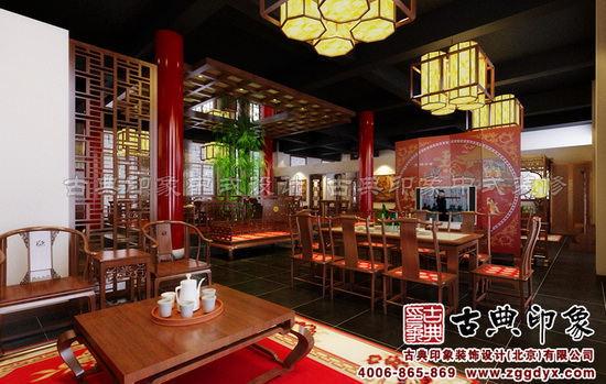 錦鴻軒紅木家具展廳中式設計一層