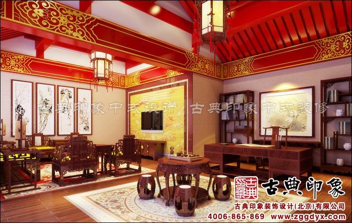 北京南苑机场古建四合院酒店中式设计效果