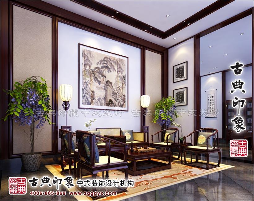 新中式风格设计典范 坝下飞鸿红木家具体验馆效果图