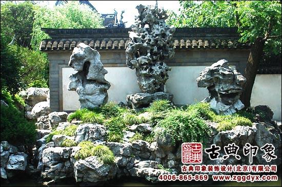 中式园林景观设计中,那朗润的假山景观,一定能洗去你灵魂里的