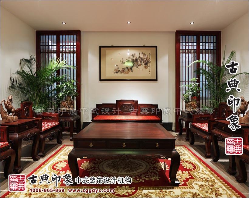 福建懷古紅木家具展廳中式設計