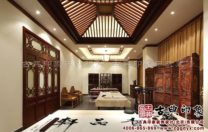红木家具展厅中式装修