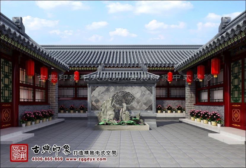 四合院为我国传统民居建筑的一道美丽风景线