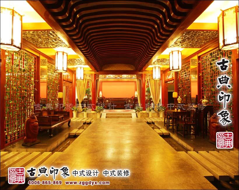 锦鸿轩红木家具展厅中式装修效果展示