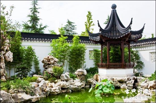 植物营造中式设计庭院空间深远意境