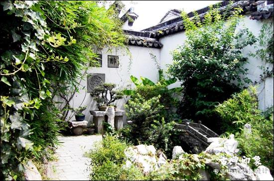 中式别墅庭院植物的布景之美