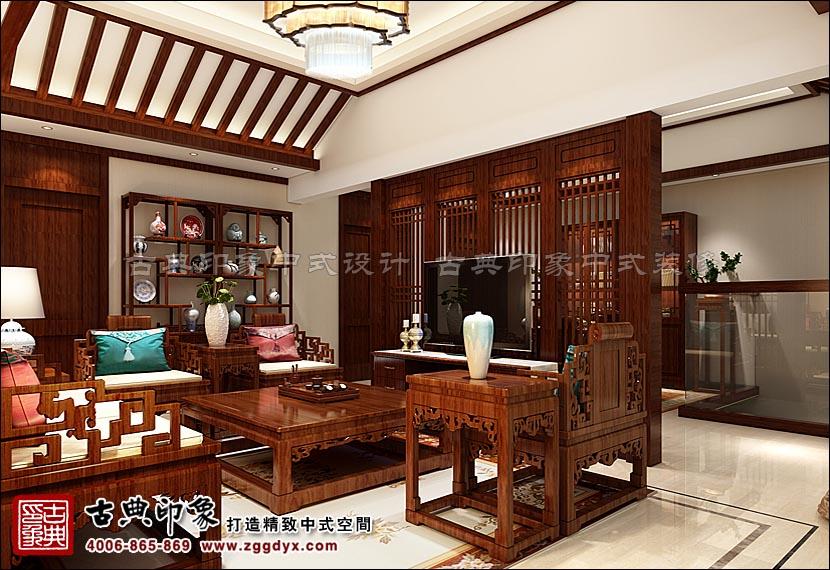 中式别墅书房
